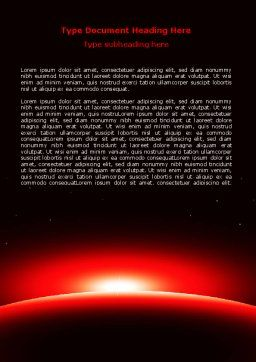 Sunset in Space Word Template, Cover Page, 07657, Nature & Environment — PoweredTemplate.com