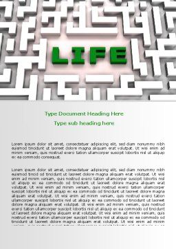 Labyrinth of Life Word Template, Cover Page, 07658, Business Concepts — PoweredTemplate.com