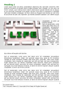 Labyrinth of Life Word Template, First Inner Page, 07658, Business Concepts — PoweredTemplate.com