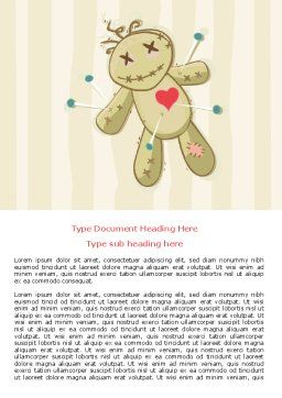 Voodoo Love Doll Word Template, Cover Page, 07659, Business Concepts — PoweredTemplate.com