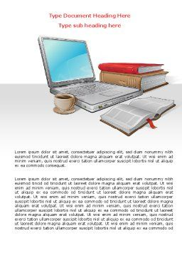 E-Learning Word Template, Cover Page, 07661, Business — PoweredTemplate.com