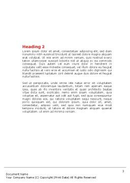 E-Learning Word Template, Second Inner Page, 07661, Business — PoweredTemplate.com