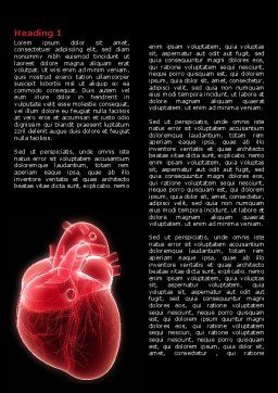 Model Of Heart Word Template, First Inner Page, 07662, Medical — PoweredTemplate.com