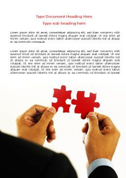 Adding Pieces Word Template, Cover Page, 07664, Consulting — PoweredTemplate.com