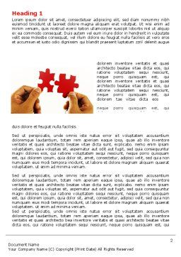 Adding Pieces Word Template, First Inner Page, 07664, Consulting — PoweredTemplate.com
