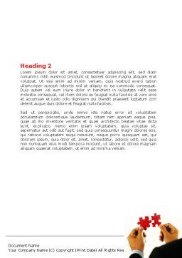 Adding Pieces Word Template, Second Inner Page, 07664, Consulting — PoweredTemplate.com