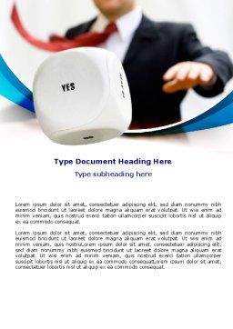 Yes Choice Word Template, Cover Page, 07667, Consulting — PoweredTemplate.com