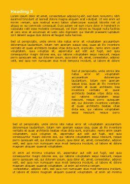 Architecture Draft Word Template, Second Inner Page, 07671, Careers/Industry — PoweredTemplate.com