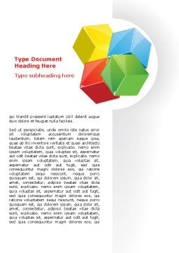 Color Blocks Word Template, Cover Page, 07673, Education & Training — PoweredTemplate.com