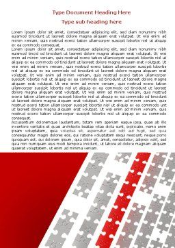 Red Jigsaw Theme Word Template, Cover Page, 07677, Consulting — PoweredTemplate.com