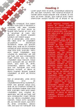 Red Jigsaw Theme Word Template, Second Inner Page, 07677, Consulting — PoweredTemplate.com