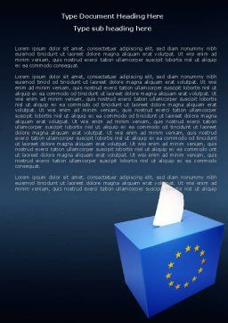 European Union Elections Word Template, Cover Page, 07679, Legal — PoweredTemplate.com