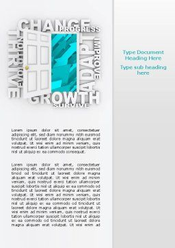 Improving Progress Word Template, Cover Page, 07681, Consulting — PoweredTemplate.com