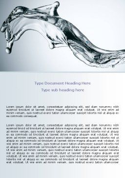 Fluid Splash Word Template Cover Page