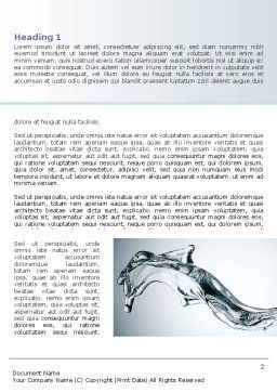 Fluid Splash Word Template First Inner Page