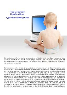 Child Computer Training Word Template Cover Page