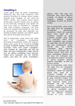 Child Computer Training Word Template First Inner Page
