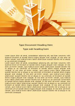 City Block Planning Word Template, Cover Page, 07689, Business — PoweredTemplate.com