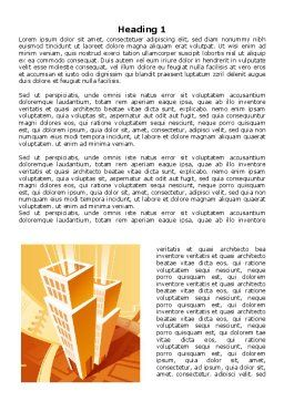 City Block Planning Word Template, First Inner Page, 07689, Business — PoweredTemplate.com
