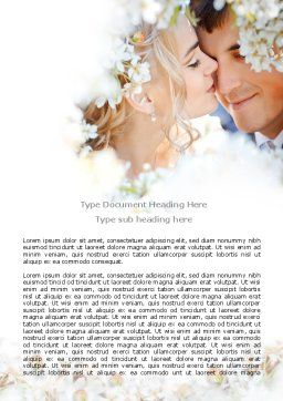 Spring Love Word Template, Cover Page, 07690, Holiday/Special Occasion — PoweredTemplate.com