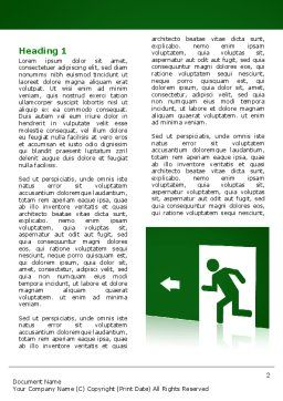 Fire Exit Word Template, First Inner Page, 07695, Consulting — PoweredTemplate.com