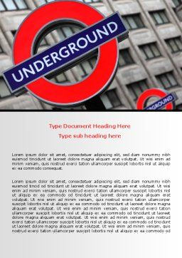 London Subway Word Template Cover Page