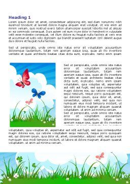 Summer Meadow Word Template, First Inner Page, 07697, Nature & Environment — PoweredTemplate.com