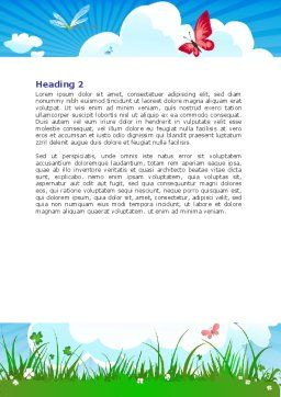 Summer Meadow Word Template, Second Inner Page, 07697, Nature & Environment — PoweredTemplate.com