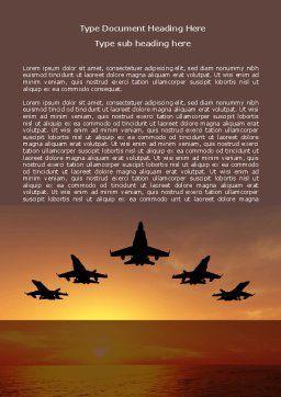 Aircraft Parade Word Template, Cover Page, 07701, Military — PoweredTemplate.com