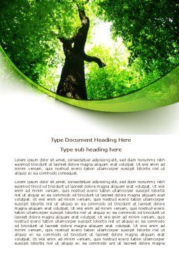High Tree Word Template, Cover Page, 07704, Nature & Environment — PoweredTemplate.com