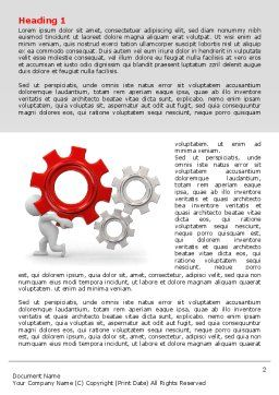 Gear Man Word Template, First Inner Page, 07705, Utilities/Industrial — PoweredTemplate.com