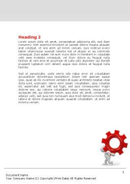 Gear Man Word Template, Second Inner Page, 07705, Utilities/Industrial — PoweredTemplate.com