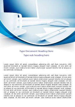 Computer Theme Word Template, Cover Page, 07706, Business — PoweredTemplate.com