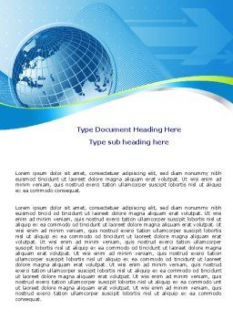 Global Telecommunication Word Template, Cover Page, 07709, Global — PoweredTemplate.com
