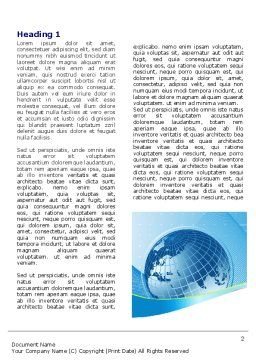 Global Telecommunication Word Template, First Inner Page, 07709, Global — PoweredTemplate.com
