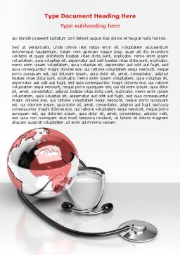 Medical Care Of The World Word Template, Cover Page, 07711, Business — PoweredTemplate.com