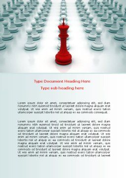 Chess King Ready To Fight Word Template, Cover Page, 07712, Education & Training — PoweredTemplate.com