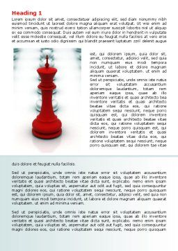 Chess King Ready To Fight Word Template, First Inner Page, 07712, Education & Training — PoweredTemplate.com