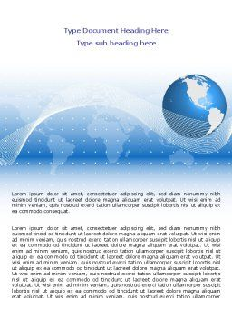 Global Interactive Links Word Template, Cover Page, 07714, Global — PoweredTemplate.com