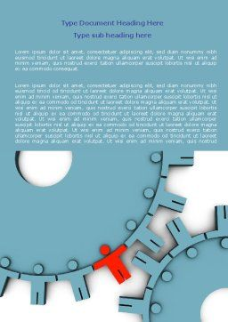 Man Cog Word Template, Cover Page, 07715, Consulting — PoweredTemplate.com