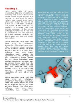 Man Cog Word Template, First Inner Page, 07715, Consulting — PoweredTemplate.com