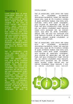 Bio Badges Word Template, First Inner Page, 07716, Nature & Environment — PoweredTemplate.com