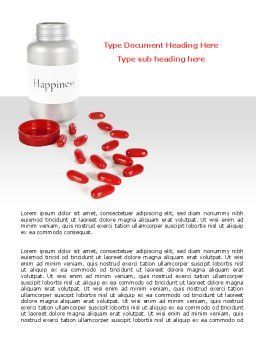 Happiness Pills Word Template, Cover Page, 07728, Consulting — PoweredTemplate.com