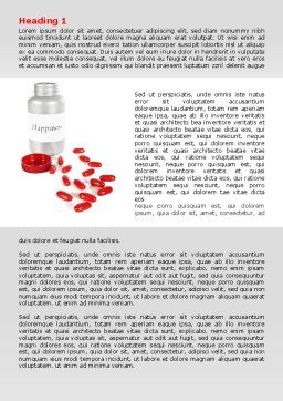 Happiness Pills Word Template, First Inner Page, 07728, Consulting — PoweredTemplate.com