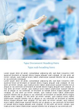 Rubber Gloves Word Template, Cover Page, 07730, Medical — PoweredTemplate.com