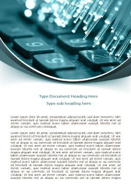 Illuminated Optic Fiber Word Template, Cover Page, 07734, Telecommunication — PoweredTemplate.com