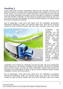 Transport Word Template, First Inner Page, 07735, Cars/Transportation — PoweredTemplate.com