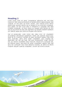 Transport Word Template, Second Inner Page, 07735, Cars/Transportation — PoweredTemplate.com