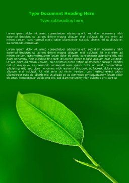 New Green Leaf Word Template, Cover Page, 07736, Nature & Environment — PoweredTemplate.com
