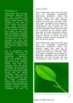 New Green Leaf Word Template, First Inner Page, 07736, Nature & Environment — PoweredTemplate.com